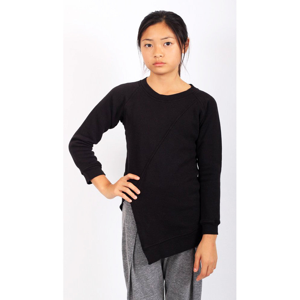 Echo Park Split Front Sweat - Black - Mimobee