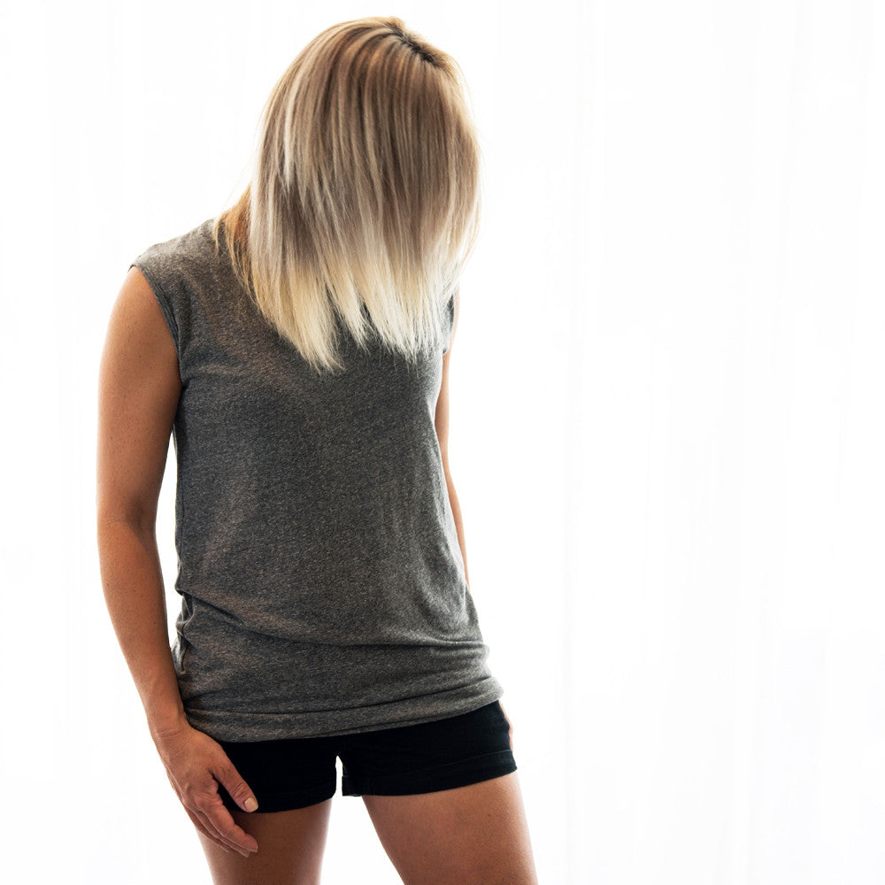 Slouchy Muscle Tunic - H. Grey