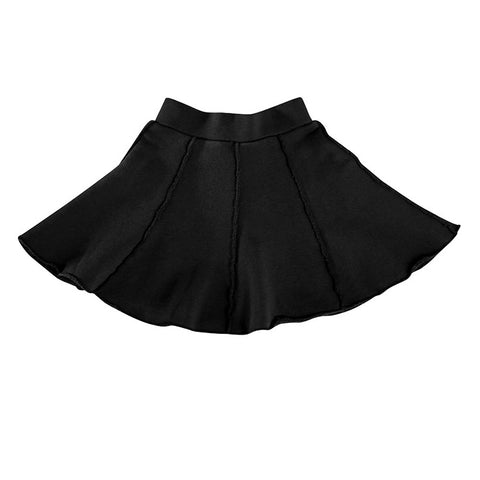 Twirly Panel Skirt - Black