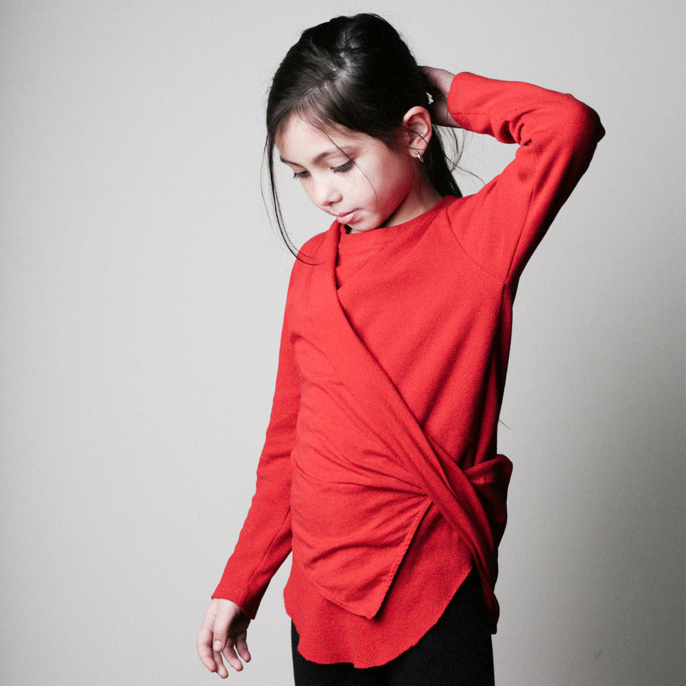 Chillers LS Thermal Tee & Laguna Side Twist Tank Combo - Red - Mimobee
