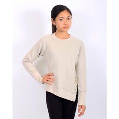 Weekender Lace-Up Sweat - Pebble - Mimobee
