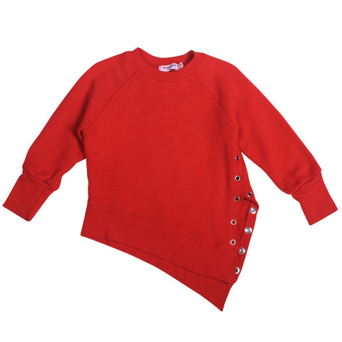 Weekender Lace-Up Sweat - Racing Red - Mimobee