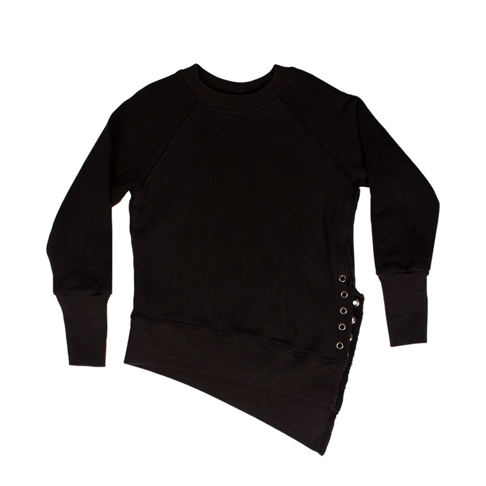 Weekender Lace-Up Sweat - Black