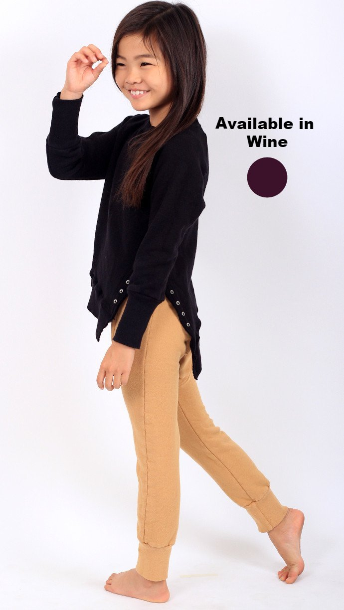 Weekender Lace-Up Sweat - Grape - Mimobee