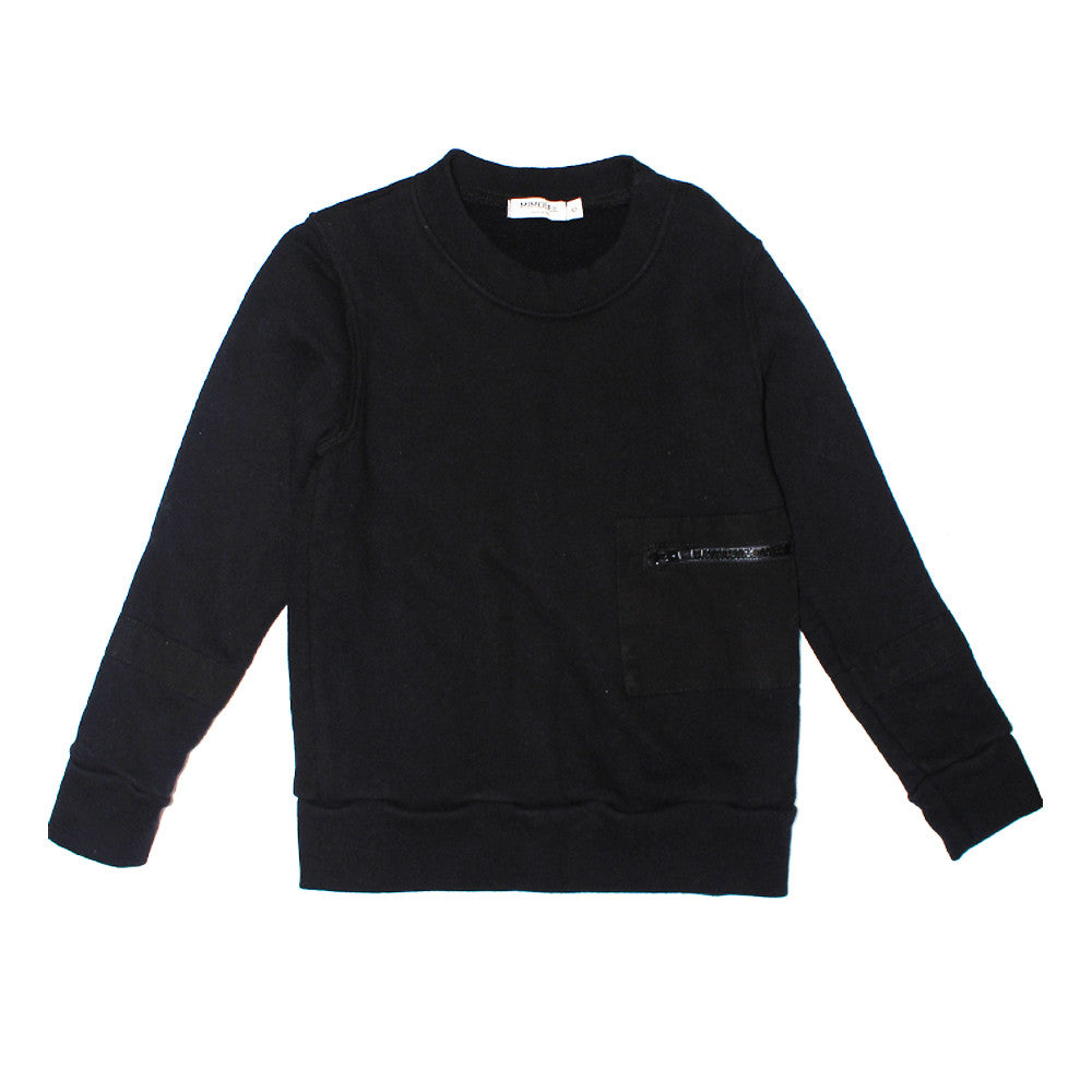 Zippity Pkt Sweat - Black - Mimobee