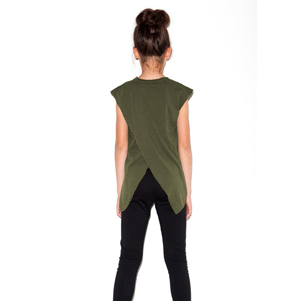 Back Wing Muscle Tee - Olive - Mimobee