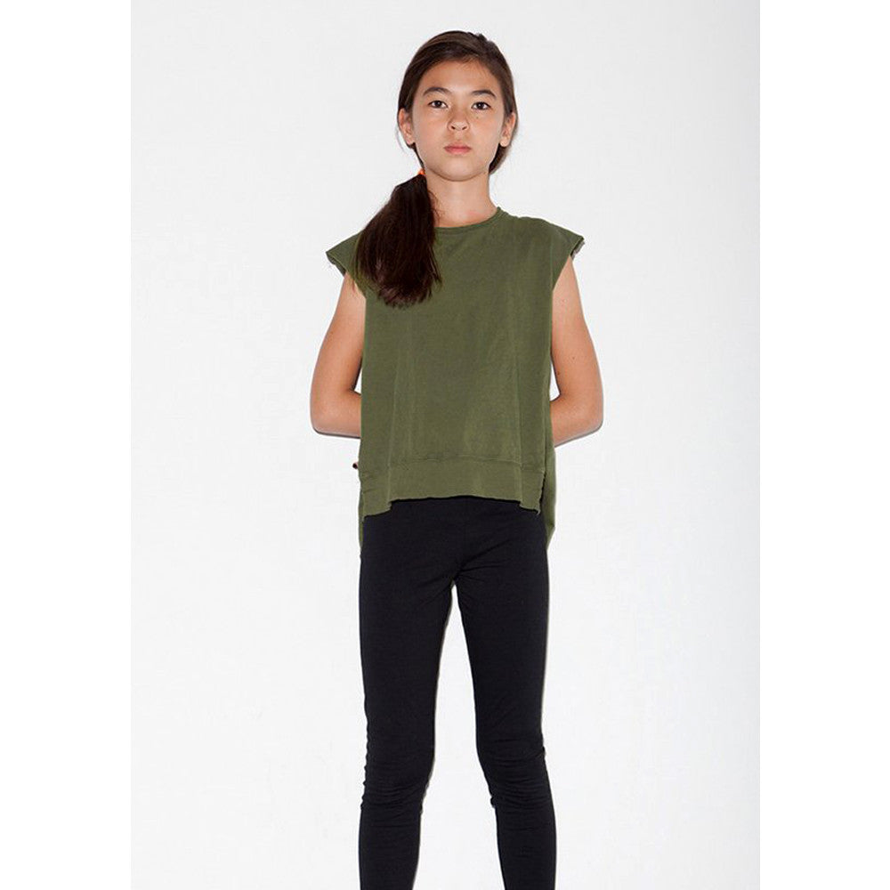 Back Wing Muscle Tee - Olive