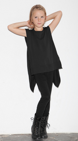 Back Wing Muscle Tee - Black (Size 4/5 only)