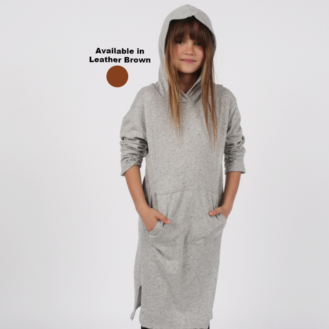 Hoodie Dress - Leather Brown