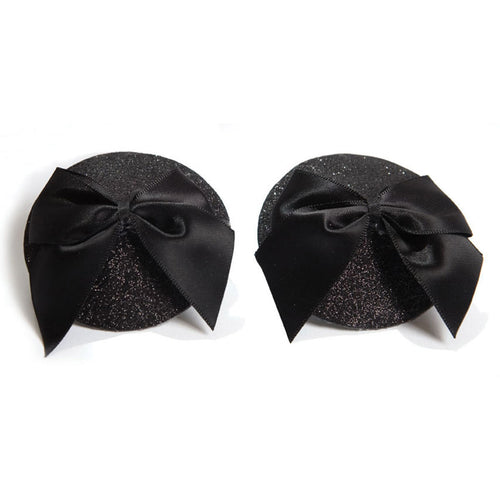 Burlesque Pasties Glitter/Bow