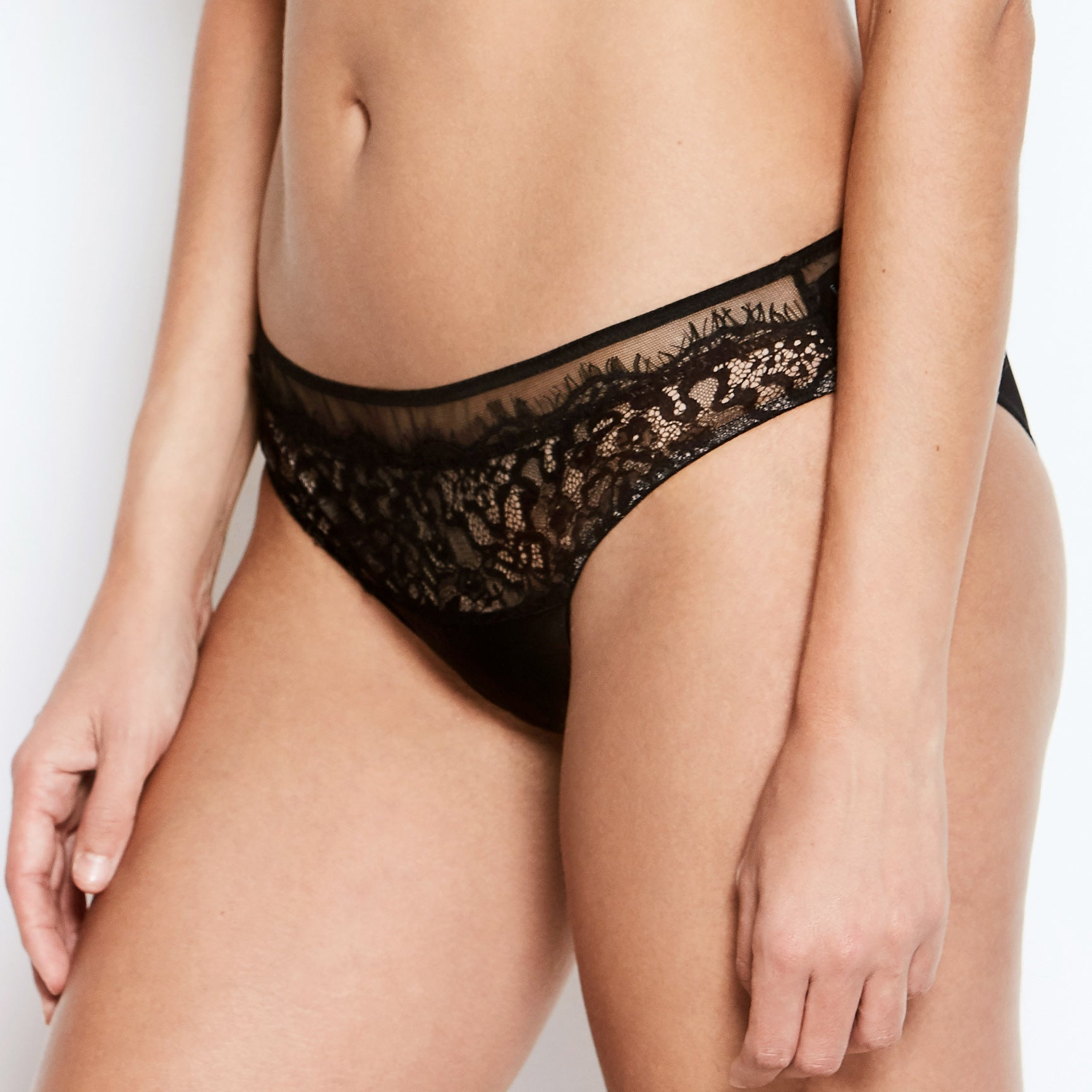 Abbie Black Lace Knickers