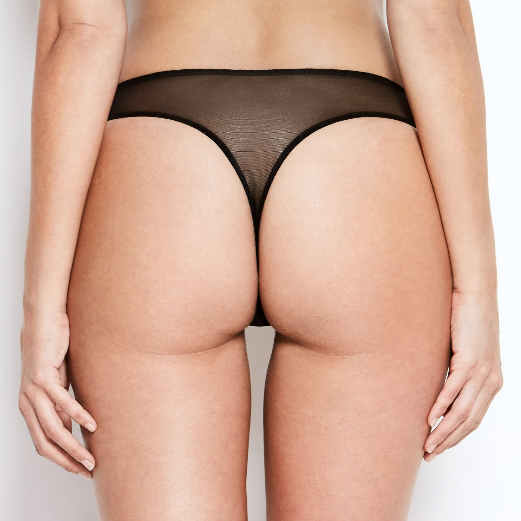 Abbie Black Lace Thong