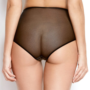Abrielle Black High Waisted Knickers
