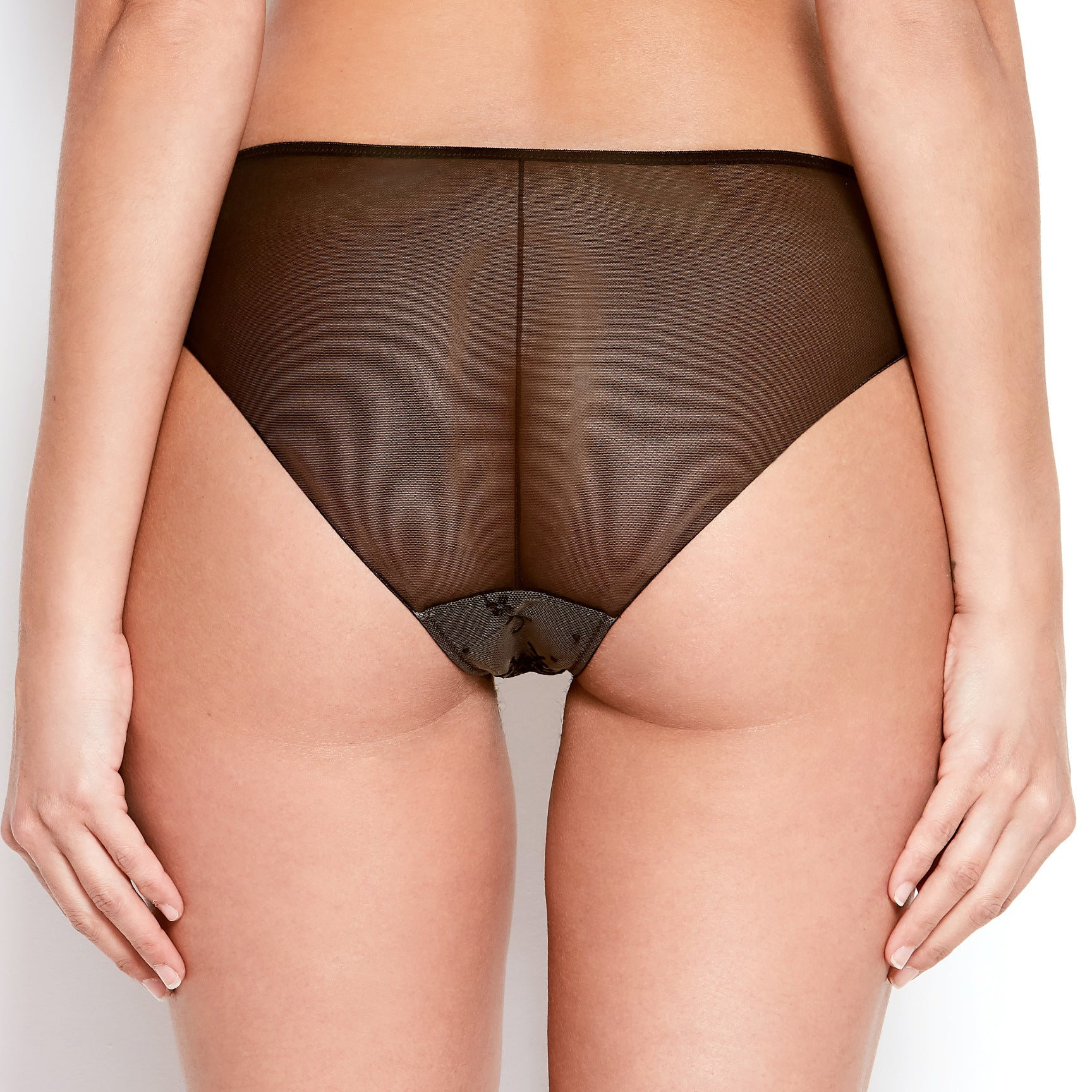 Abrielle Black Embroidered Knickers