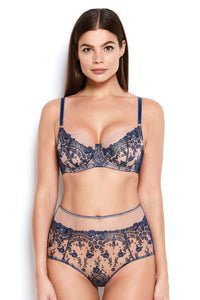 Abrielle Blue High Waisted Knickers
