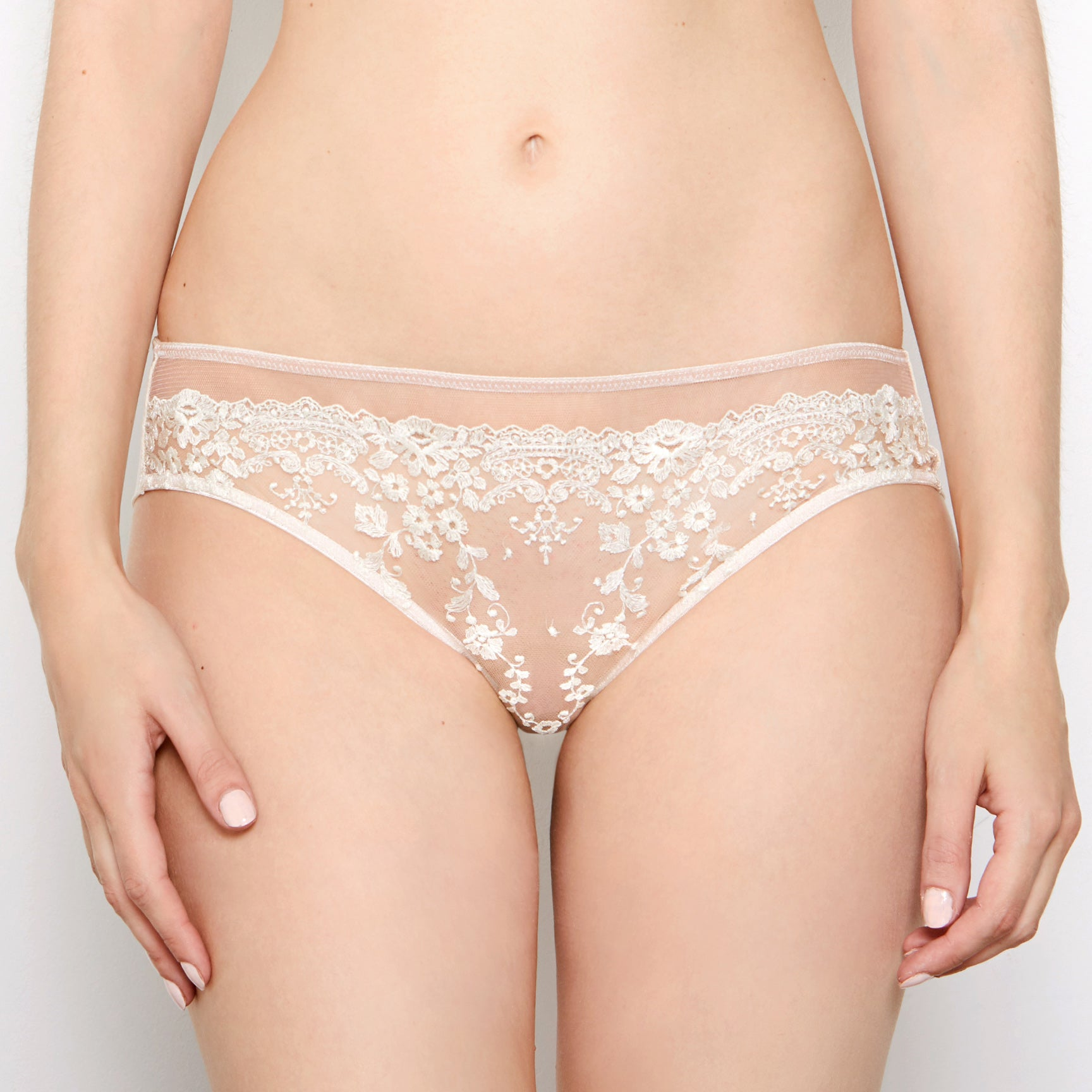 Abrielle Chalk Embroidered Knickers