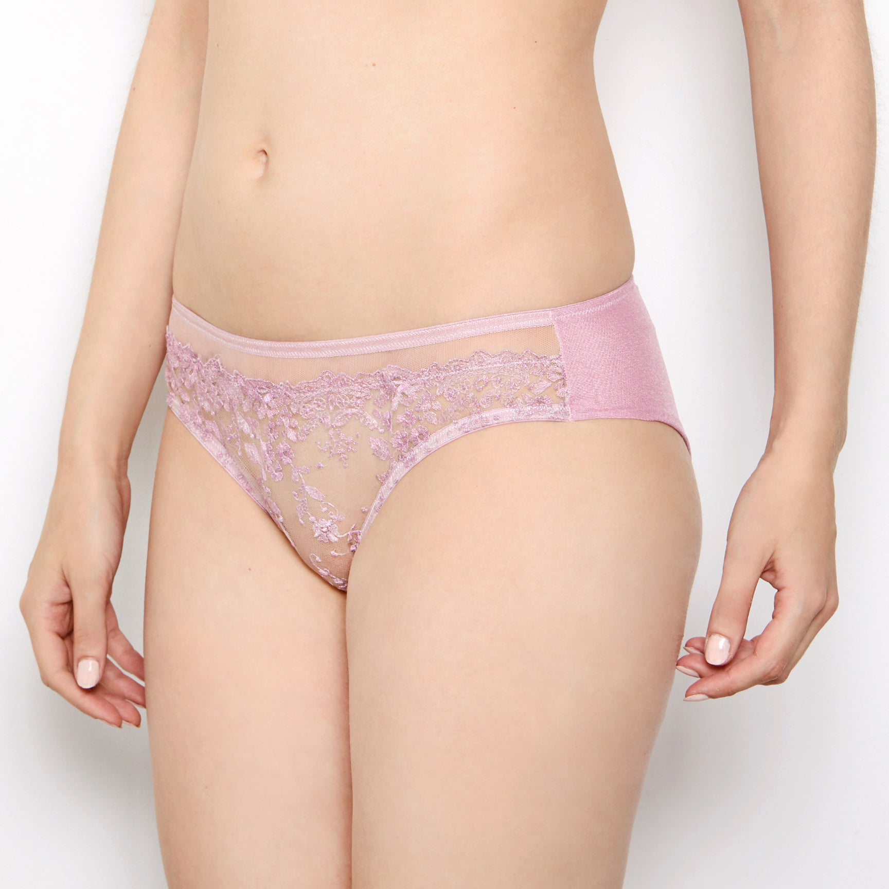 Abrielle Rose Gold Embroidered Knickers
