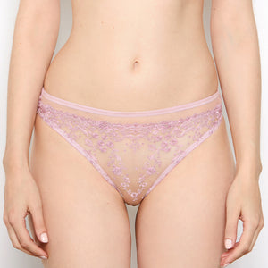 Abrielle Rose Gold Embroidered Thong