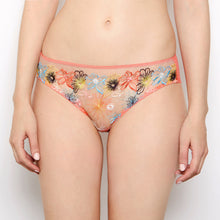 Load image into Gallery viewer, Eden Floral Embroidered Coral Knickers