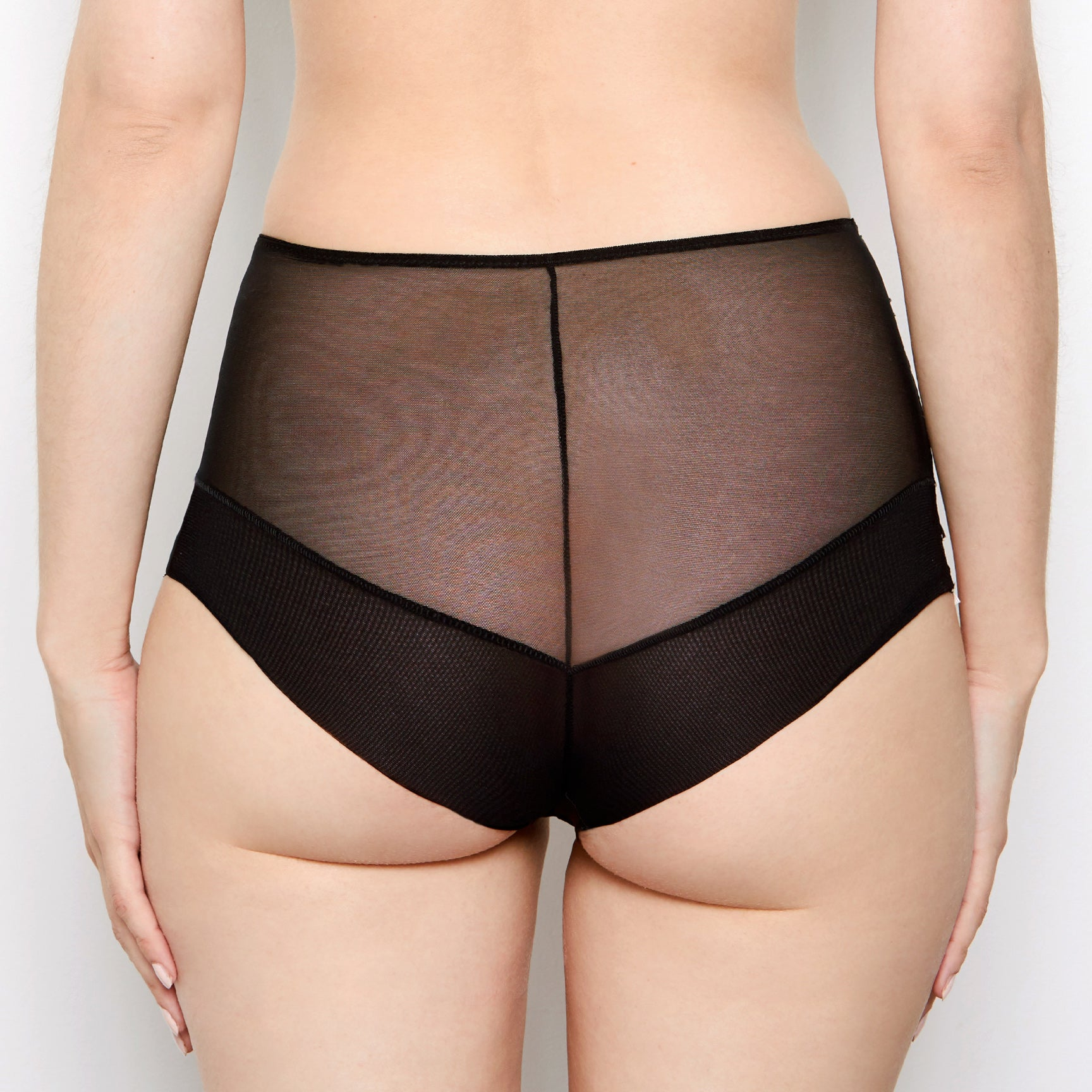 Mariella Black Lace High Waisted Knickers