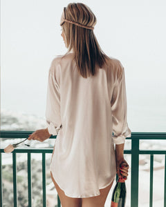 Silk Boyfriend Sleep Shirt