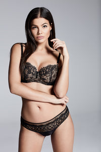 Abbie Black Eyelash Lace Bra