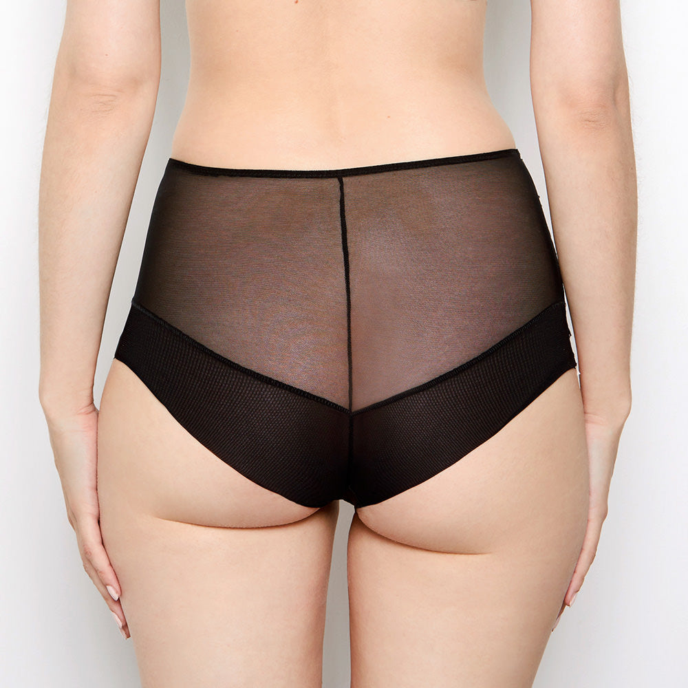 Abbie Black High Waisted Knickers