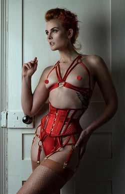 5fce7c542bc Orchid Corsetry. Regular price  385.00 · Inira Cage Bra and Thong Set