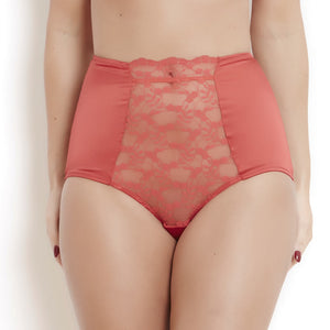 Sophia Red LaceHigh Waisted Knickers