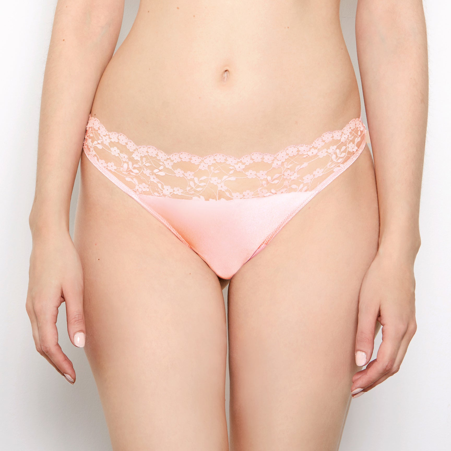 Sophia Blush Lace Thong