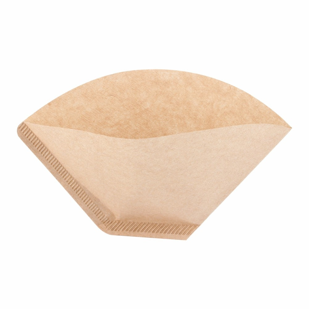 100 Pieces Eco-friendly Unbleached Original Wooden Hand Drip Paper Coffee Brewer 102 Coffee Filter