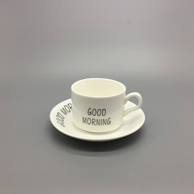 150ml coffee cup set European ceramic coffee cup and dish breakfast cup and saucer simple coffee cup