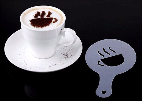 16 pcs/set Plastic Coffee Latte Garland Mould Latte Art Stencils Template For Latte/Cappuccino/Fancy