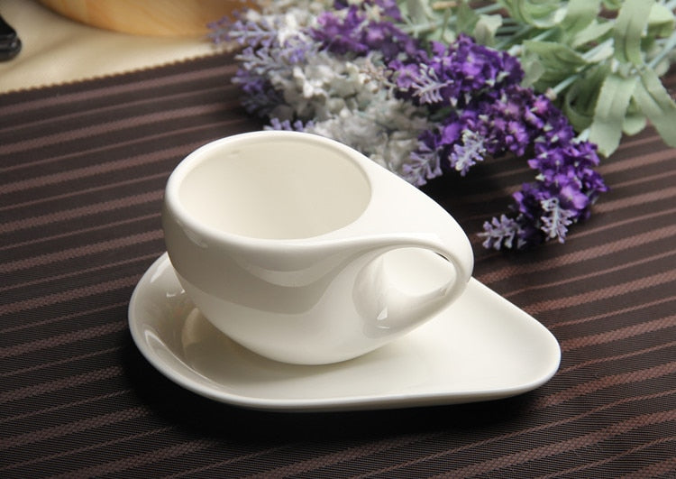 175ml white ceramic  coffee cup cappuccino american thickening garland product porcelain coffee