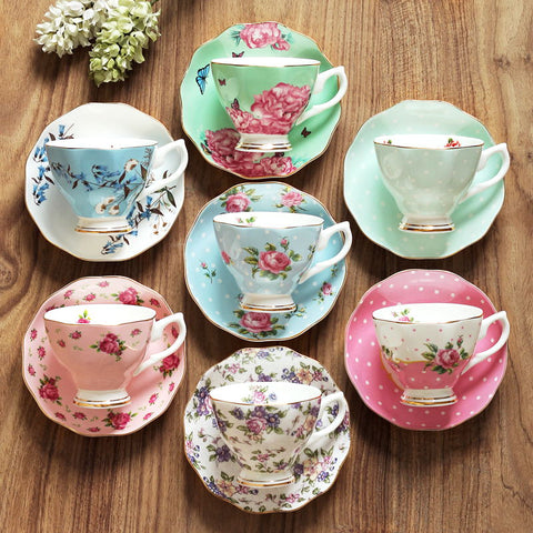 180ML, fine bone china coffee cup and saucer and spoon, funny fashion design, zakka tazas cafe