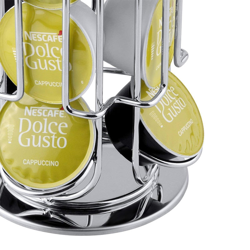 1PC Dolce Gusto Capsule Holder  24 PCS Coffee Storage Pod Holder Rotating Rack Coffee Capsule