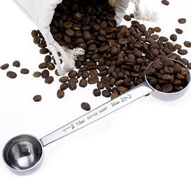 1Pc Stainless Steel Coffee Scoop Tea Coffee Measuring Spoon Double End Sugar Coffee Spoon Tablespoon