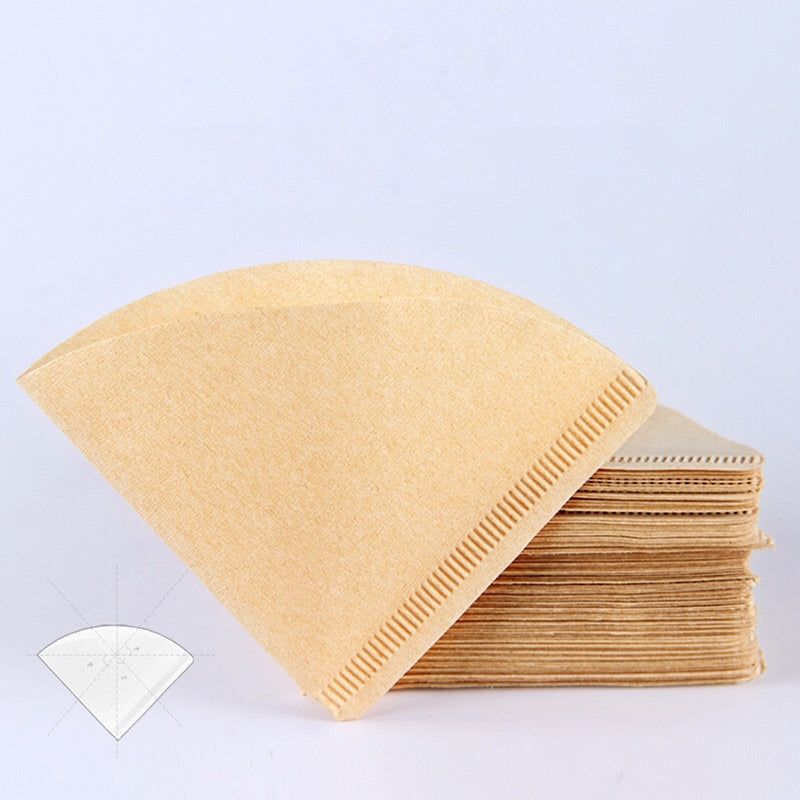 200PCS V Shape Coffee Filter Paper 1-2/2-4Cup For V60 Dripper Coffee Filters Cups Espresso Coffee