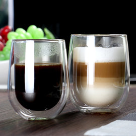 200ml Set of 2pcs Double wall insulated coffee cup of coffee sets for espresso, latte,beverages