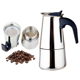 Large Capacity Stainless steel 304 Moka Pot Coffee Maker Stovetop Espresso Maker