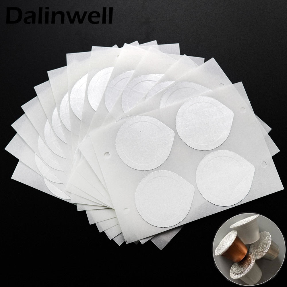 240PC Refillable Nespresso Coffee Capsule Flim Sticker Refilling Stainless Steel Capsule Self