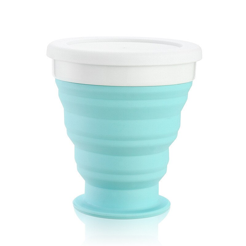 250 ml Folding Silicone Portable Silicone Telescopic Drinking Collapsible coffee cup folding