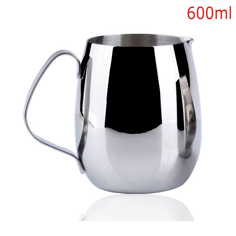300ml 350ml 600ml Stainless Steel Coffee Pitcher Barista gear 3 types choice Kitchen Coffee Milk