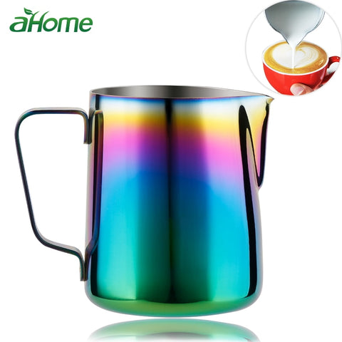 350ml Stainless Steel Espresso Cup Milk Frother Coffee Cup Coffee Mug Cappuccino Cream Milk Foam Mug