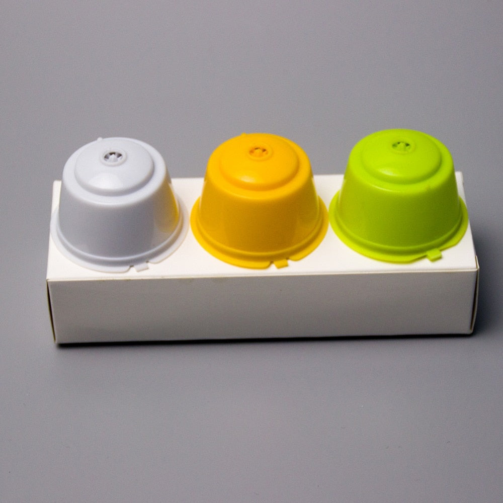 3Pcs Eco-friendly Reusable Coffee Capsule set Scoop Brush Food Grade Plastic PP Coffee Filter