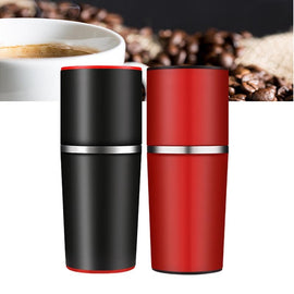 4 In 1 Manual Coffee Maker Coffee Bean Grinder Mill Hand Pressure Portable Travel Espresso Machine