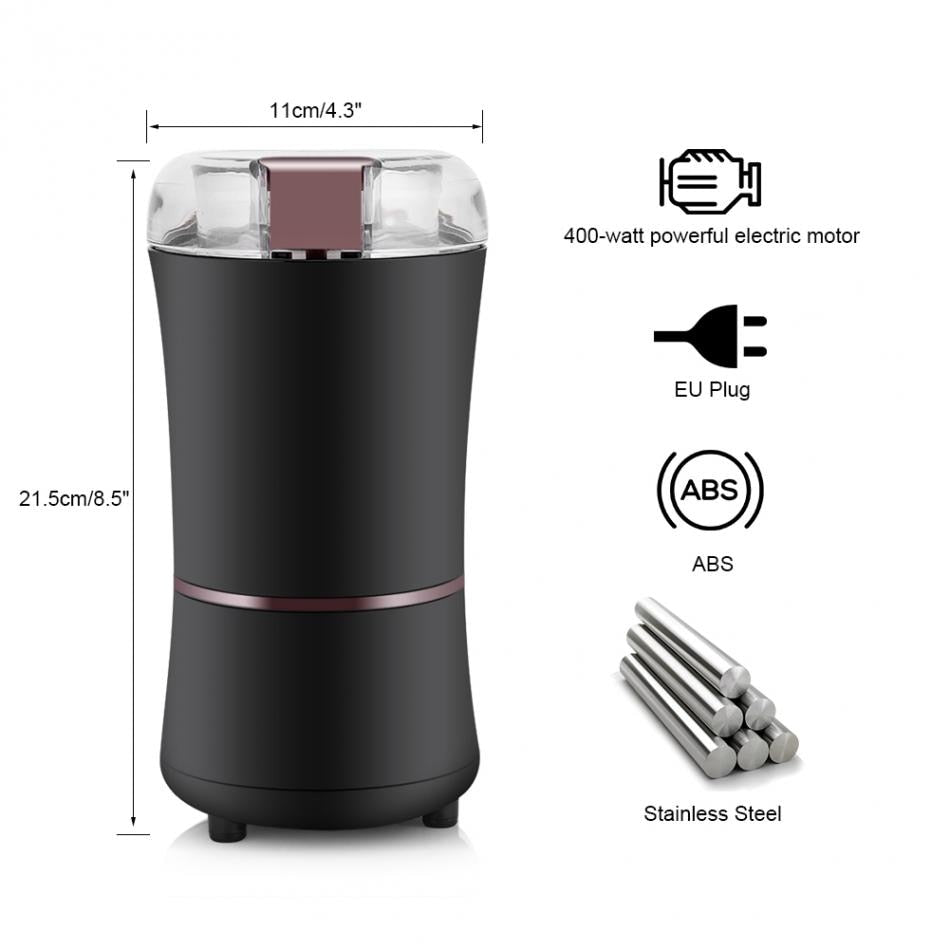 400W Electric Coffee Grinder Mini Kitchen Salt Pepper Grinder Powerful Beans Spices Nut Seed Coffee Bean