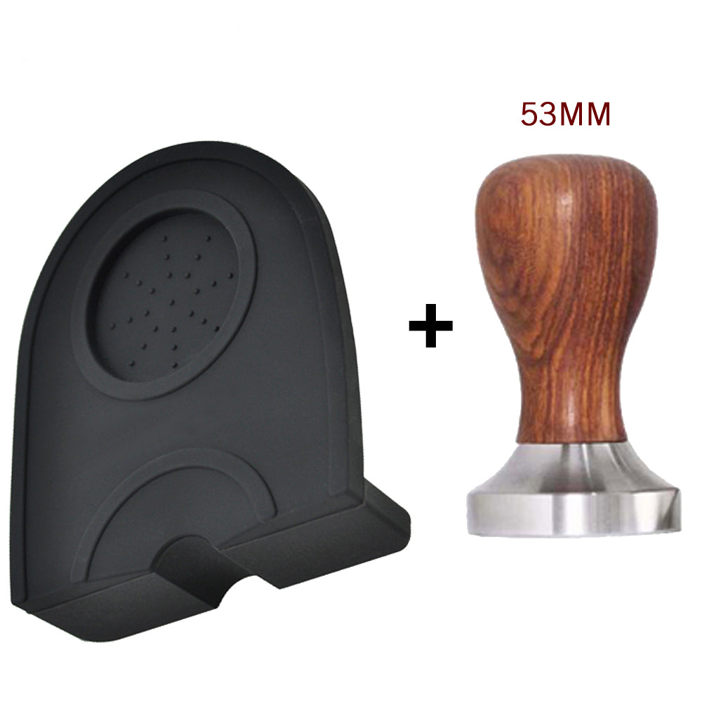 49/51/53/58mm Manual Coffee Espresso Tamper Holder Silicone Pad Mat Coffee Tamper Mat Kitchen