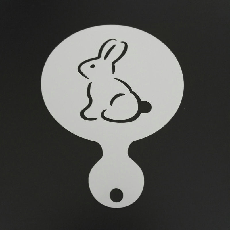 4pcs/set Cartoon Coffee Stencil Cake Decoration Rabbit Duck Butterfly Egg Cupcake Cookie
