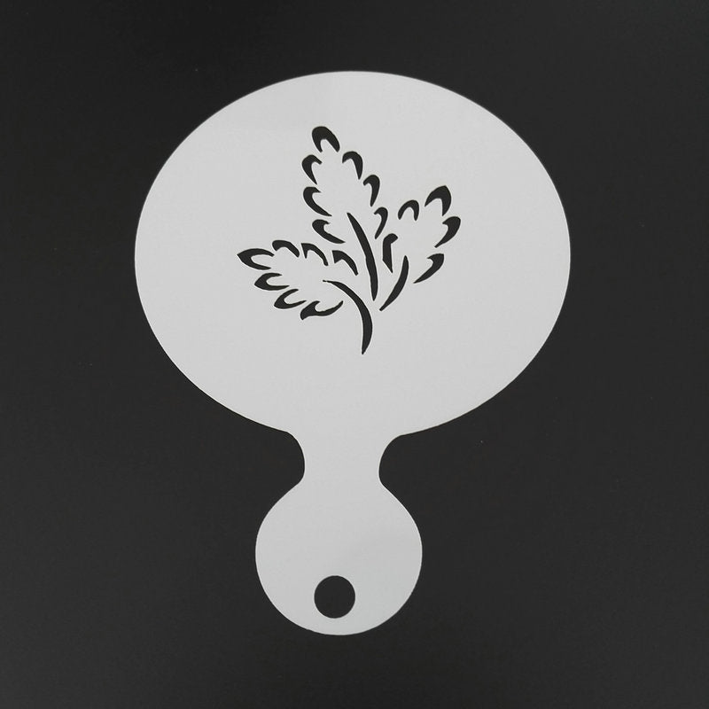 4pcs/set Flower Leaves Coffee Stencil Cappuccino Latte Art Cookie Stencils Template Mold Caffe